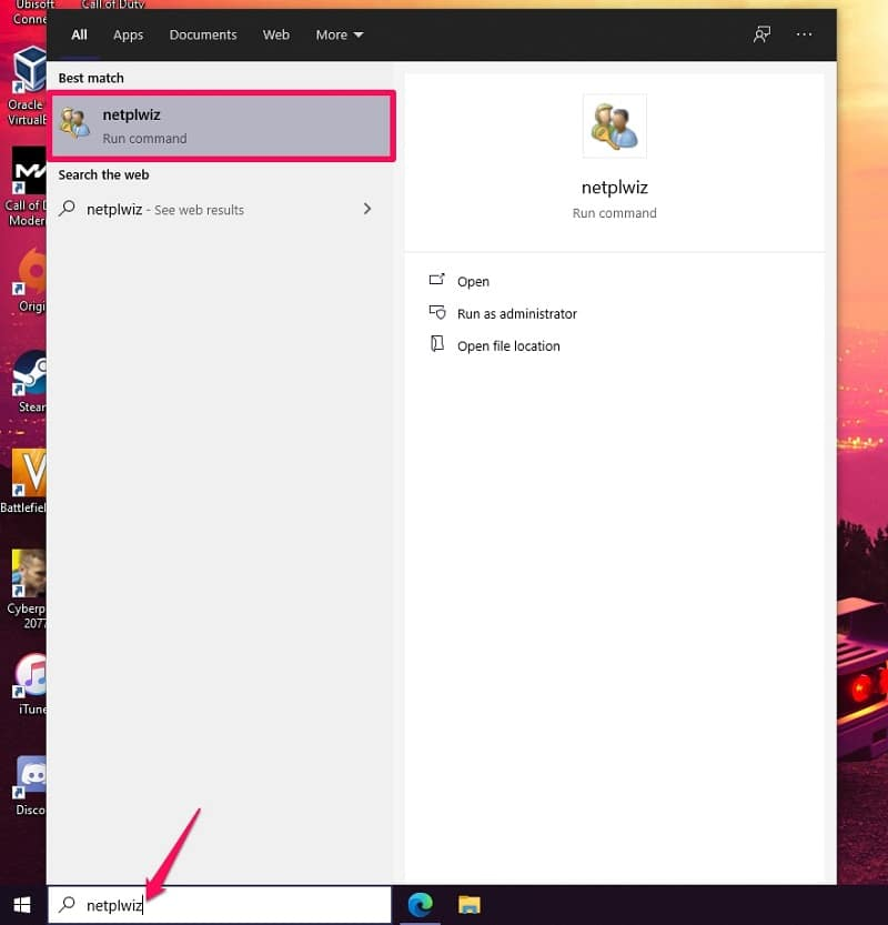 Create a New User Account on Windows 10 with Netplwiz