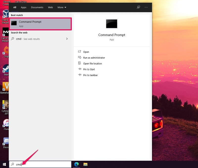 Open Disk Management in Windows 10 Using Command Prompt