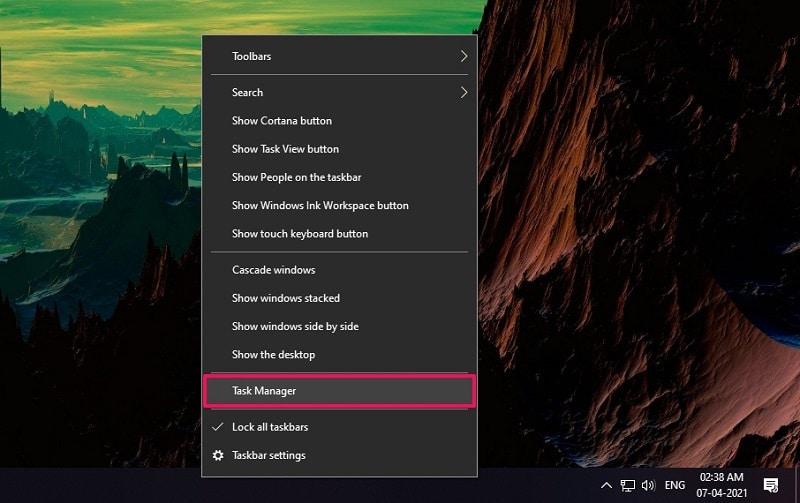 Restart Explorer Windows 10 from Task Manager