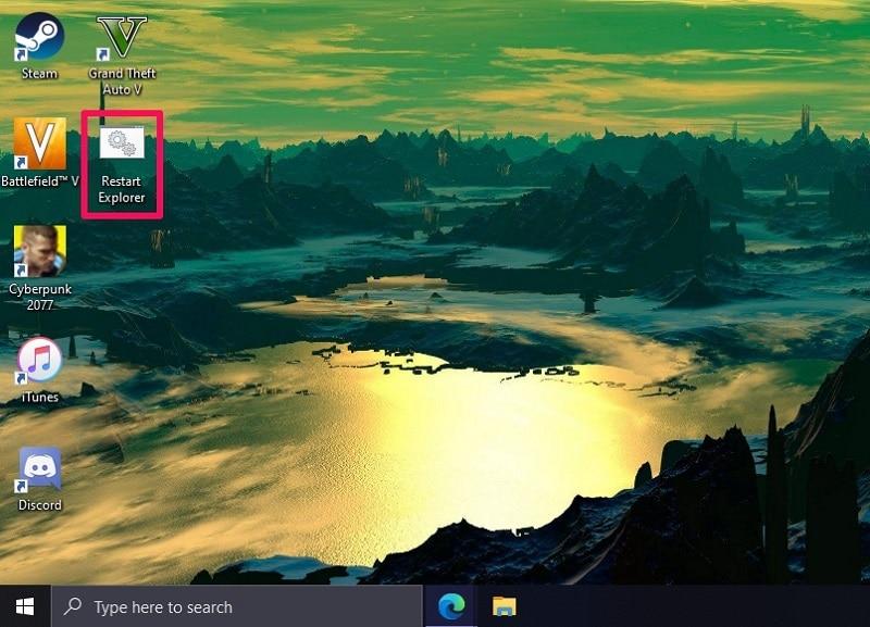 Restart Explorer.exe Windows 10 Using an Automatic Batch File