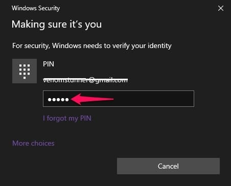 Confirm to sign out of Microsoft account on Windows 10