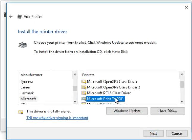 Printer driver options