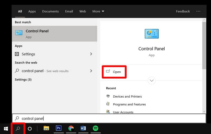 Reset Default Administrator Password on Windows 10 from control panel