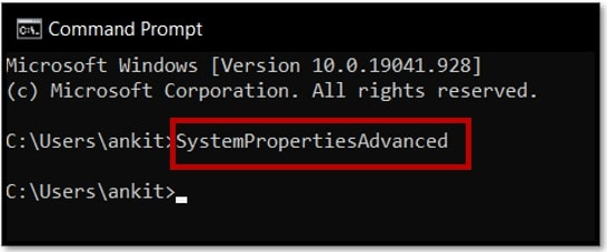 Open Advanced System Settings in Windows 10 Using Command Prompt