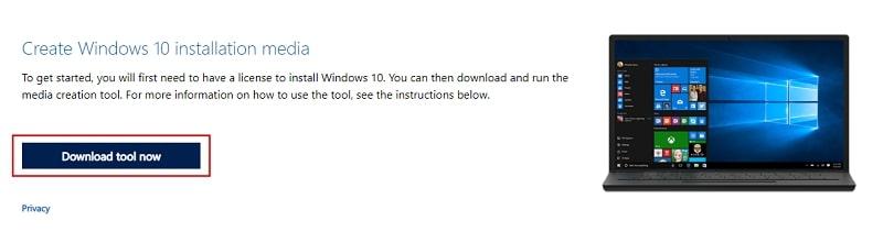 Create Windows 10 installation media – download tool now