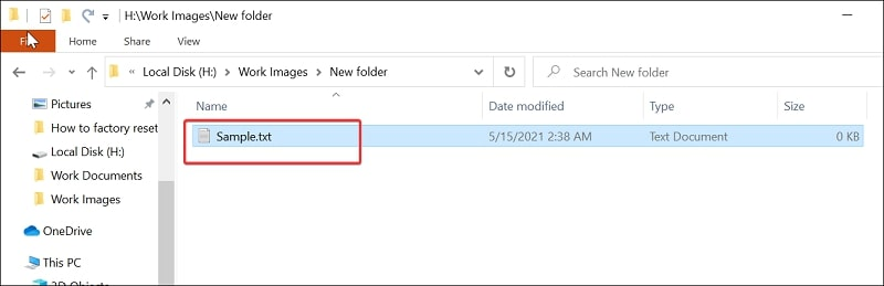 Directly open a text file in Notepad Windows 10