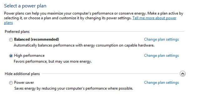 Adjust Brightness on Windows 10 from Control Panel – Power Options