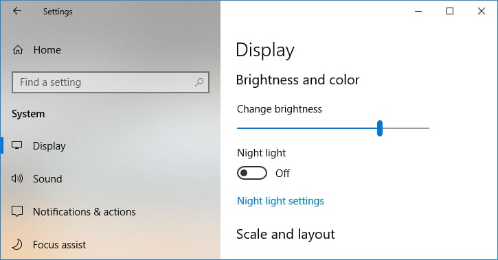 How to Change Screen Brightness on Windows 10 from Settings