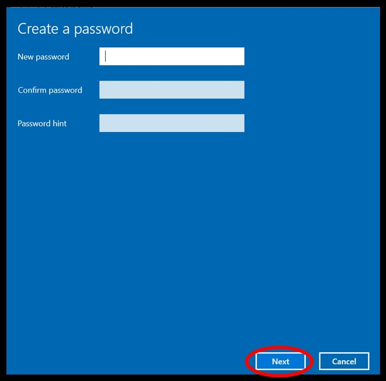 Settings menu showing how to create a password to remove auto-login in Windows 10