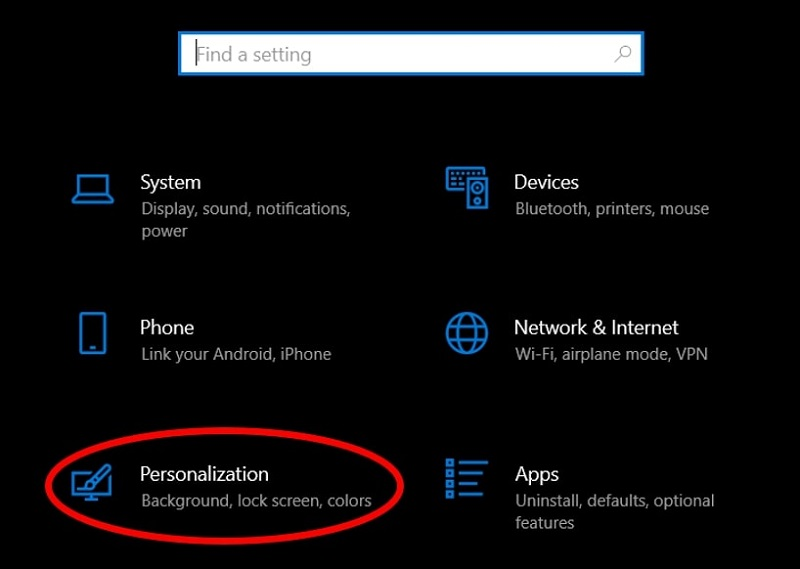 Personalization option to create a Desktop Shortcut of Control Panel in Windows 10