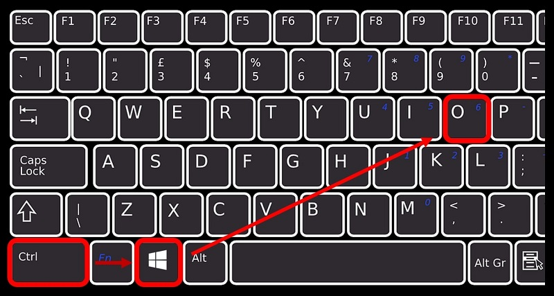 shortcut keys to open OnScreen keyboard in Windows 10