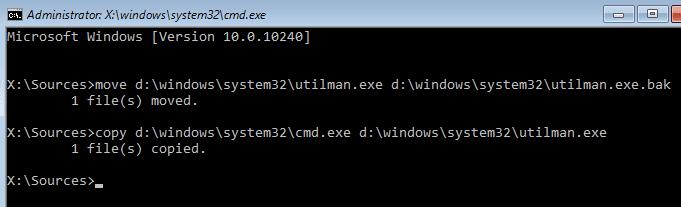 Using copy command in CMD Windows 10