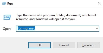 Open Local Users and Groups on Windows 10
