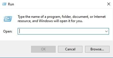 Open Run Command Window in Windows 10 using Windows & R shortcut