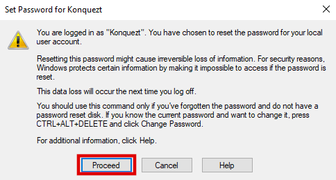 Proceed to remove password hint on Windows 10