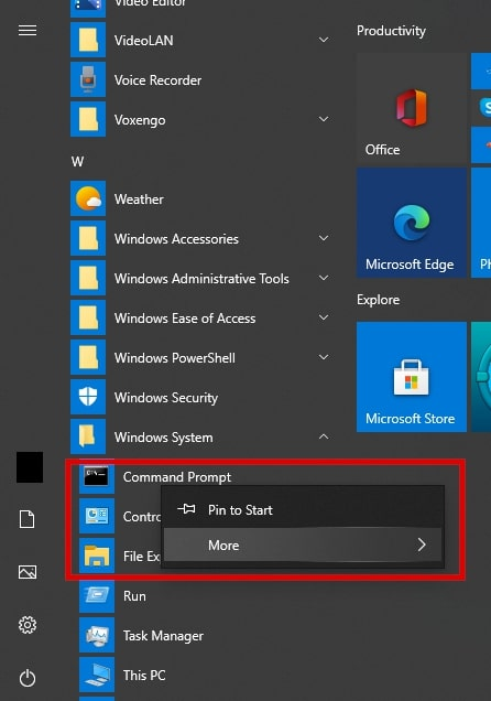 Run Command Prompt As Administrator On Windows 10 From The Start Menu