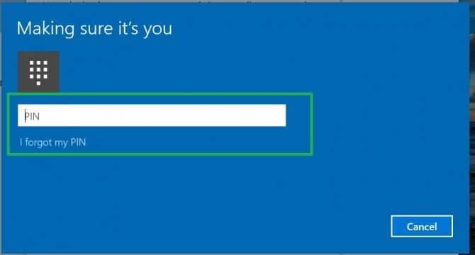 set up a code for Windows Hello Fingerprint