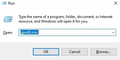 Open Local Group Policy Editor in Windows 10