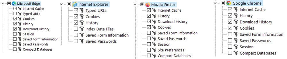 Select the browsers you want to clear cache in IOBit Advanced SystemCare