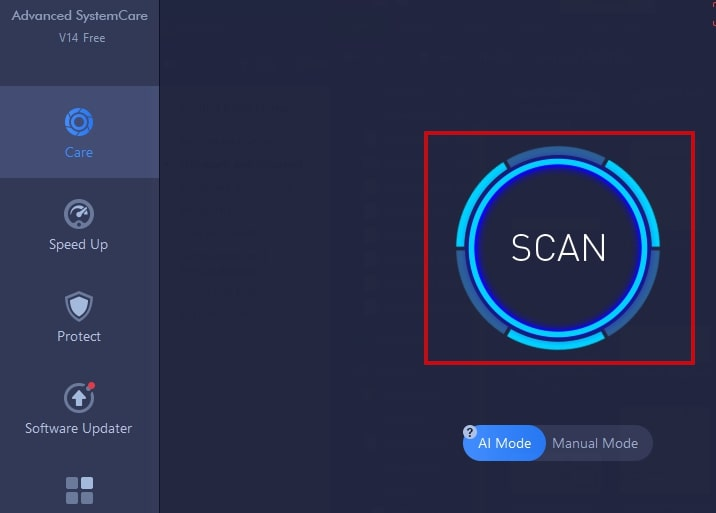 Scan cache and cookies in IOBit Advanced SystemCare
