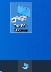 Drag and drop This PC shortcut into taskbar