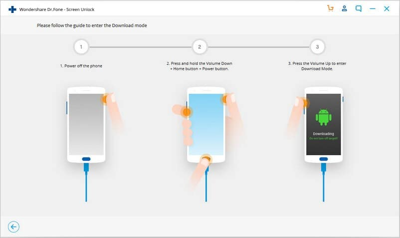 dr.fone screen lock Android download mode