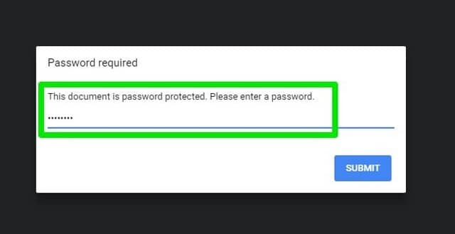 enter the password to open the PDF file