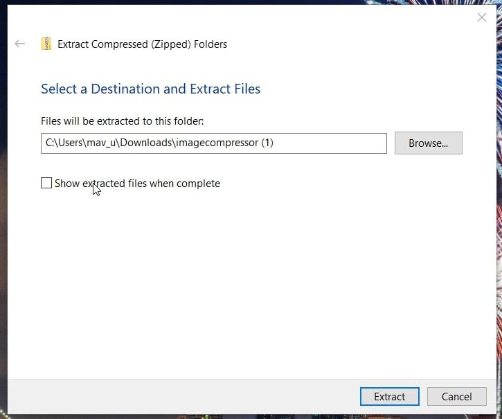 Extract Cursor Folders in Windows 10