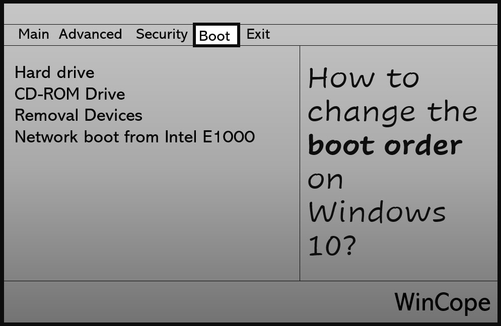 How to Change Boot Order in Windows 10