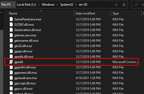 Open Local Group Policy Editor in Windows 10 Through The .EXE File