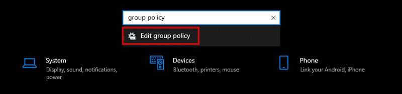 Open Local Group Policy Editor in Windows 10 Through Settings