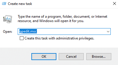 Open Local Group Policy Editor in Windows 10 by using Task Manager