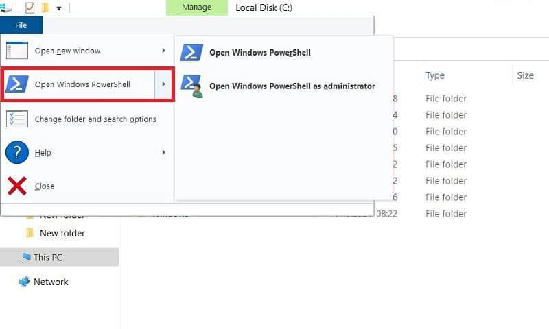How to Open PowerShell in Windows 10 from the File Explorer