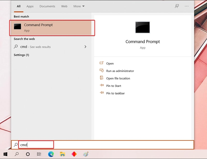 Open Command Prompt in Windows 10 to view WiFi password
