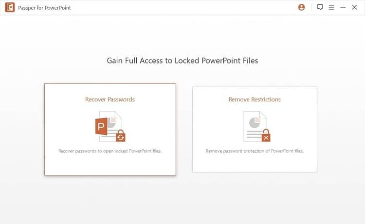 The Remove Restrictions in Passper for PowerPoint!