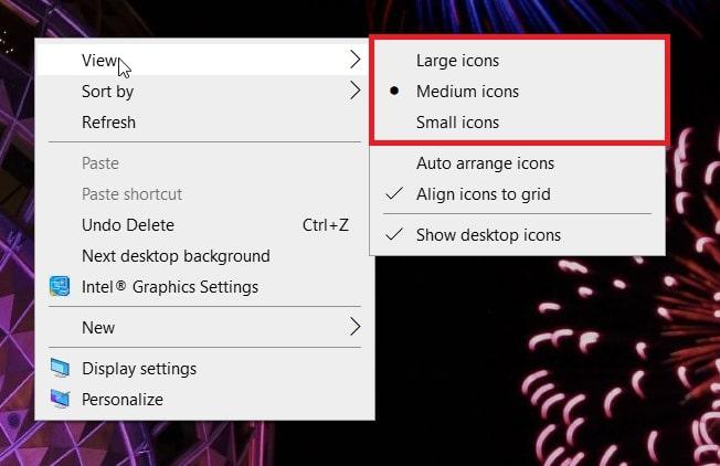 resize the lock screen desktop shortcut in Windows 10