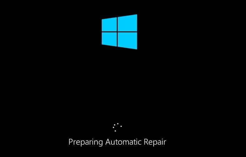 Preparing Automatic Repair in Windows 10