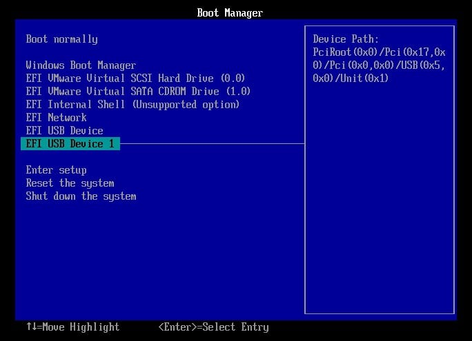 Boot Windows 10 from recovery drive