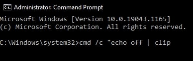 Empty clipboard in Windows 10 using Command Prompt