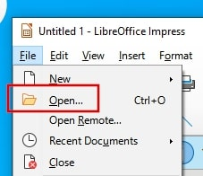 Open PPTX file without PowerPoint using LibreOffice Impress