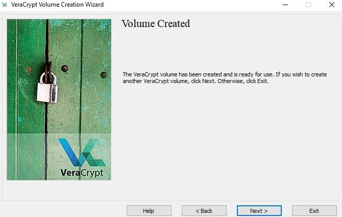 Volume Created in VeraCrypt
