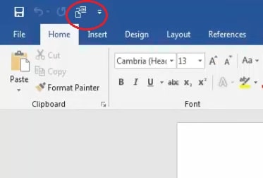 The Send to Microsoft PowerPoint button in Word