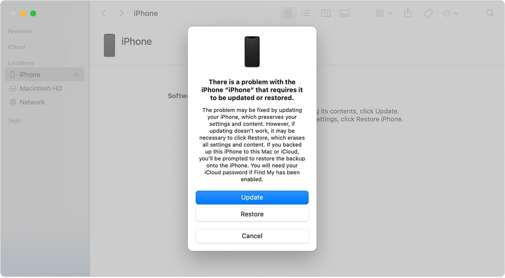 Wipe An iPhone without Passcode Using iTunes