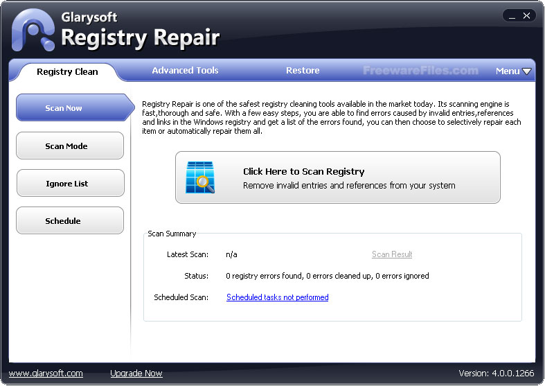 Glary Registry Repair registry cleaner
