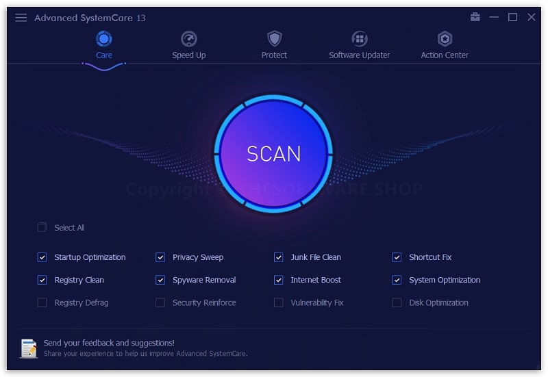 IObit Advanced SystemCare Pro registry cleaner