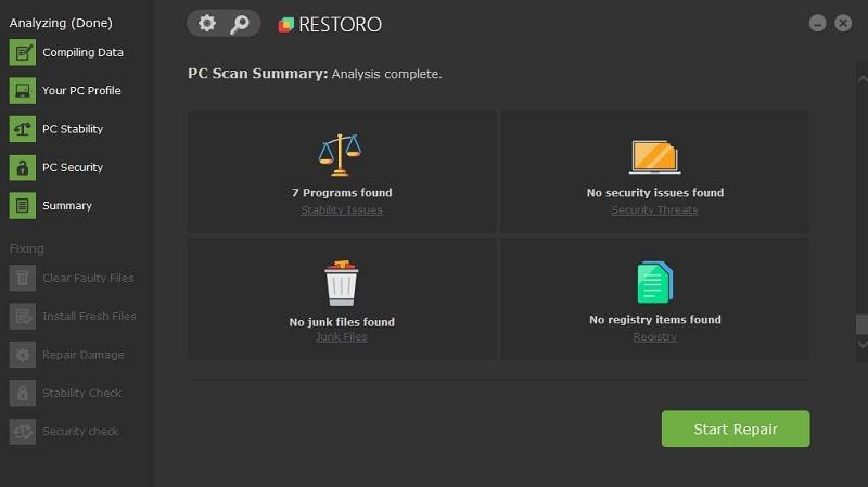 Restoro registry cleaner